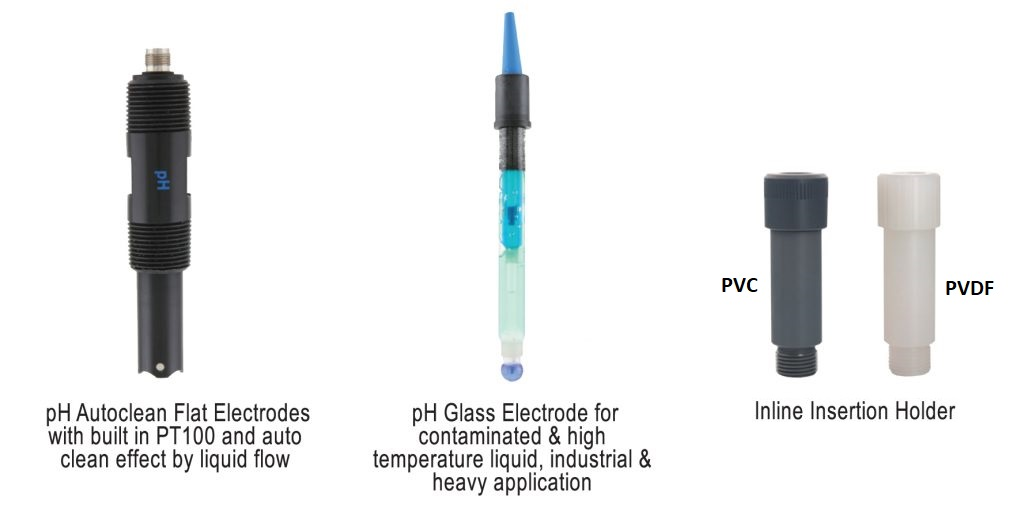 aph480 ph controller electrochemical sensor options