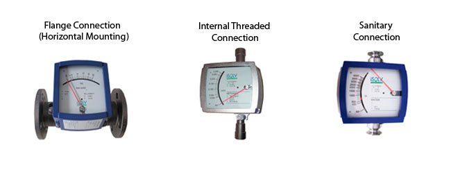 mt28 metal tube variable area flow meter process connections