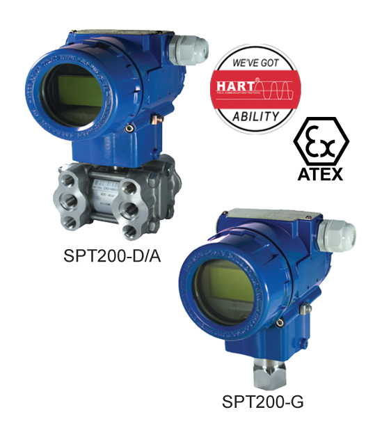 spt200 smart pressure transmitter absolute differential gauge measurement