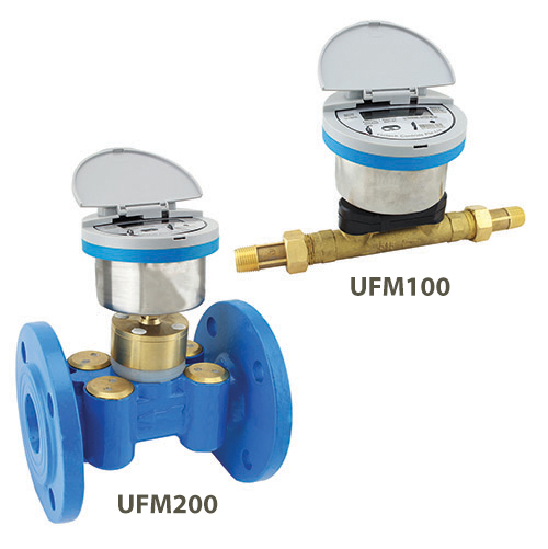 In-line smart ultrasonic water meter ufm series
